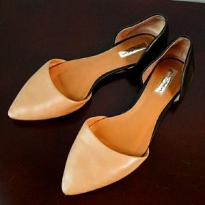 HALOGEN Flats Leather D'orsay